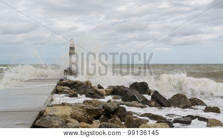 The Adriatic Sea In Storm