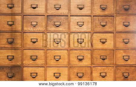 Apothecary Wood Closet With Drawers