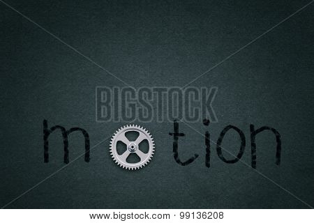 Word motion with gear instead of letter O
