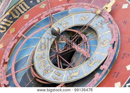 Zytglogge Zodiacal Clock In Bern, Switzerland