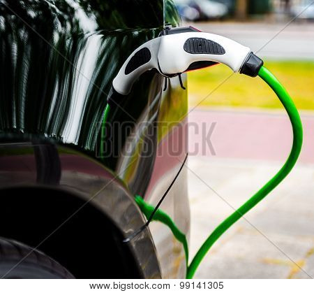 Electric Car Charging In Ev Charging Station