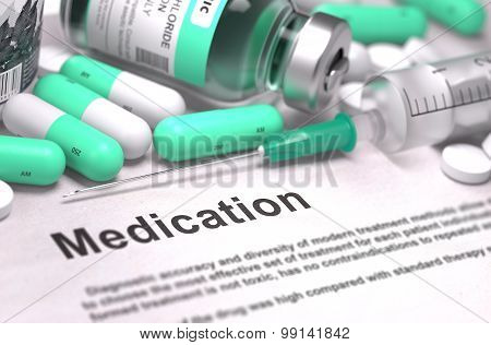 Medication - Concept with Blurred Background.