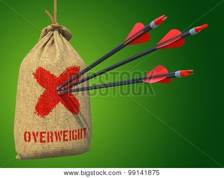 Overweight - Arrows Hit in Red Target.