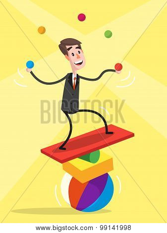 Businessman Balancing
