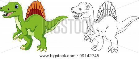 Cute Spinosaurus cartoon