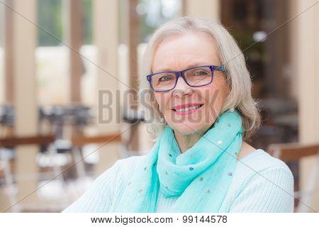 Beautiful woman cafe