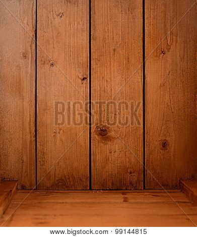 Wood Background - Inside Of Empty Wood Crate (or Box)