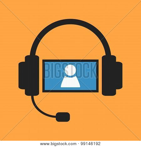 Video chat illustration