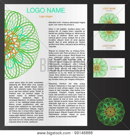 Logo Template For Flyer And Business Card