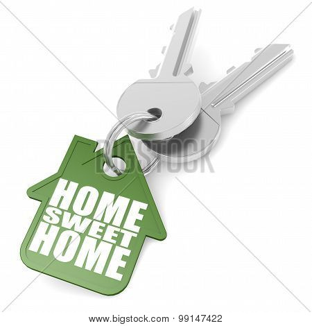 Keychain With Sweet Home Word