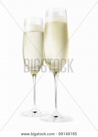 Champagne In Two Glasses - Stock Image