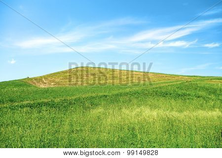 Green Hill Blue Sky