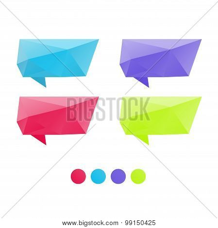 Polygonal design set bubbles for speech with triangular polygons
