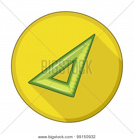 Triangle Ruler Flat Icon