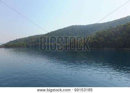 aegean sea landscape view marmaris turkey