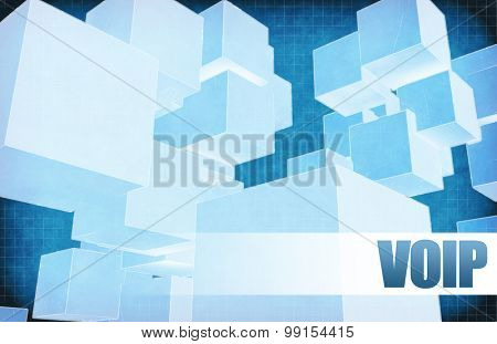 Voip on Futuristic Abstract for Presentation Slide