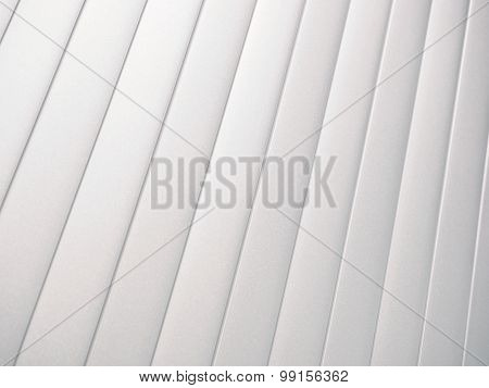Silver slat background angled up right