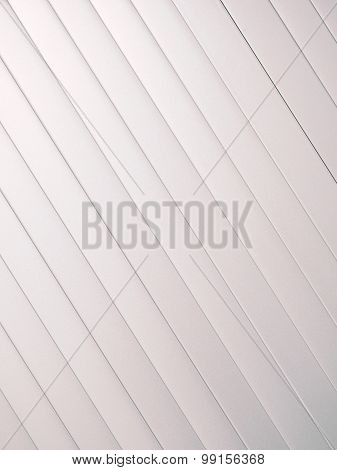 Silver slat background angled up left