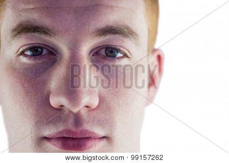 Close up of a face of a man