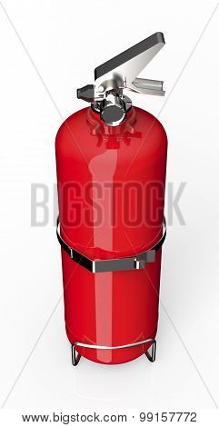 Red Fire Exinguisher Isolated On White With Clipping Path