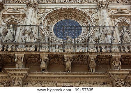 baroque detail of the Basilika de Santa Croce Lecce Apulia Italy