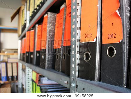 Office Archive Full Of Folders With Documents