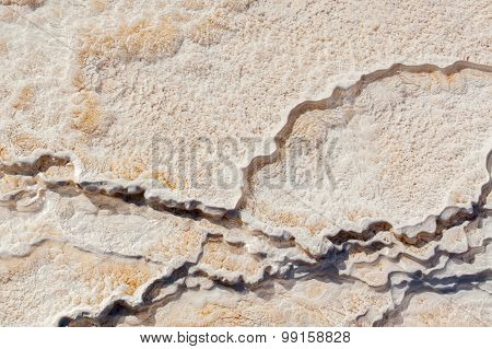 Close Up of Hot Spring Travertine