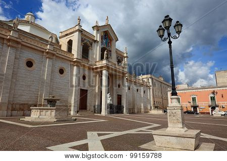 the cathedrale of Manfredonia in Apulia Italy