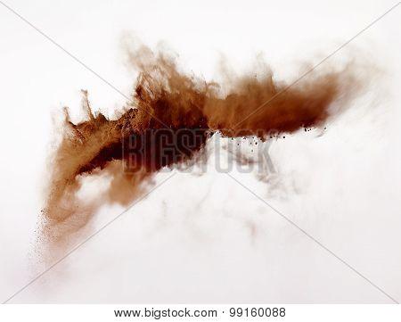 Powder Explosion Isolated On White Background