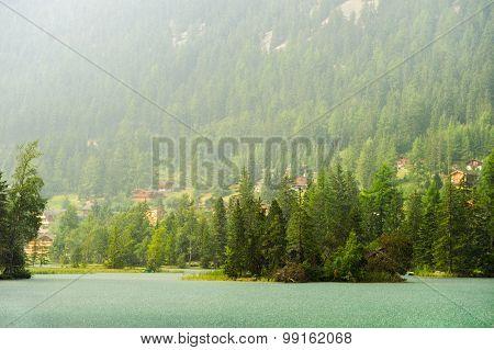Summer storm in swiss Alps