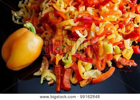 Bell Pepper Slices And Whole Fruit