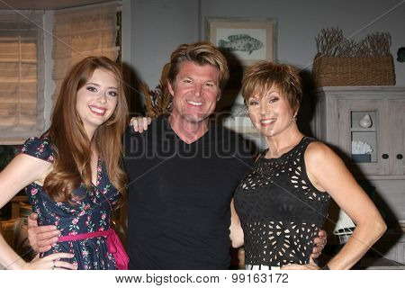LOS ANGELES - AUG 14:  Ashlyn Pearce, WInsor Harmon, Schae Harrison at the Bold and Beautiful Fan Event Friday at the CBS Television City on August 14, 2015 in Los Angeles, CA
