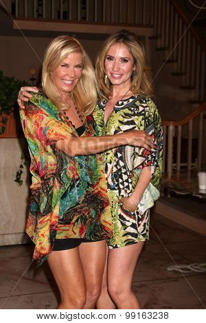LOS ANGELES - AUG 14:  Katherine Kelly Lang, Ashley Jones at the Bold and Beautiful Fan Event Friday at the CBS Television City on August 14, 2015 in Los Angeles, CA