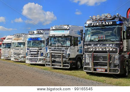 Row Of Show Trucks
