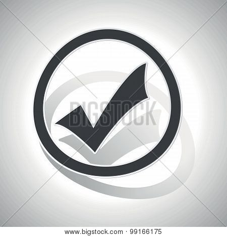 Select sign sticker, curved