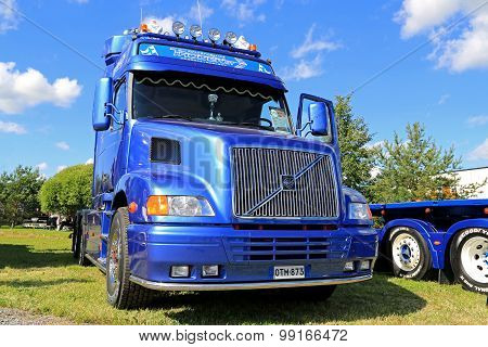 Blue Volvo NH12 Truck In A Show