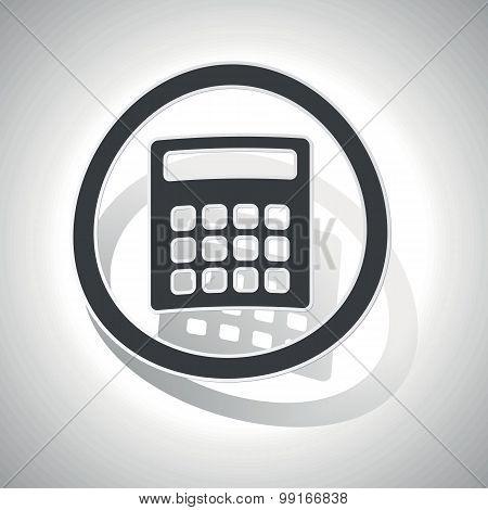 Calculator sign sticker, curved
