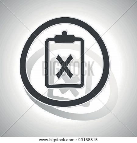 Negative result sign sticker, curved