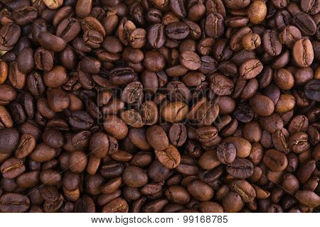 Full frame background of coffee beans