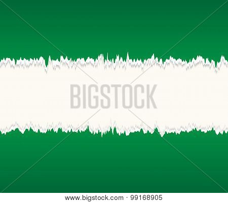 Background of green seamless torn paper