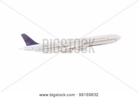 White Airplane Isolated