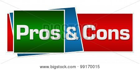 Pros And Cons Red Green Blue Horizontal