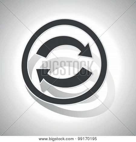 Refresh sign sticker, curved