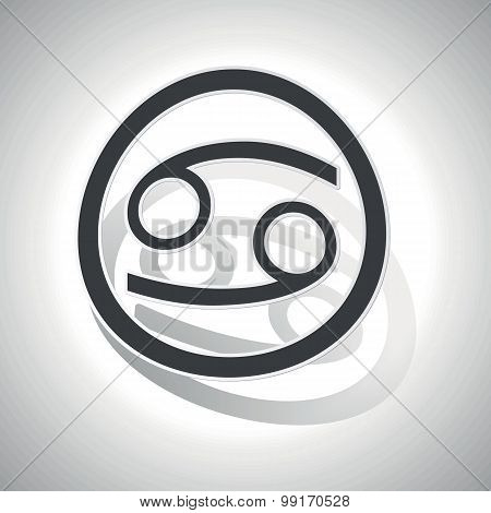 Cancer sign sticker, curved