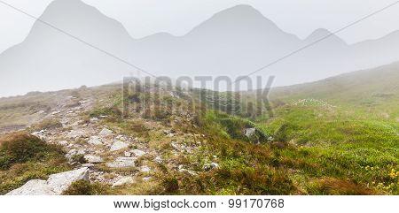 Woman Talking On The Montenegrin Ridge
