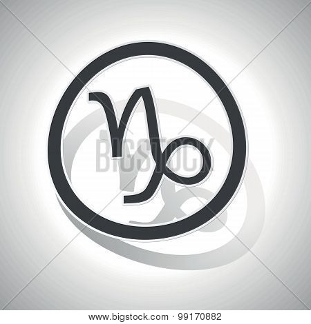 Capricorn sign sticker, curved