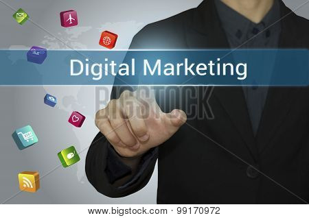 business point Digital Marketing on website.