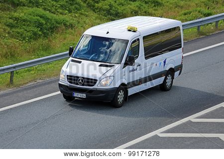 Mercedes-Benz Sprinter Minibus On The Motorway