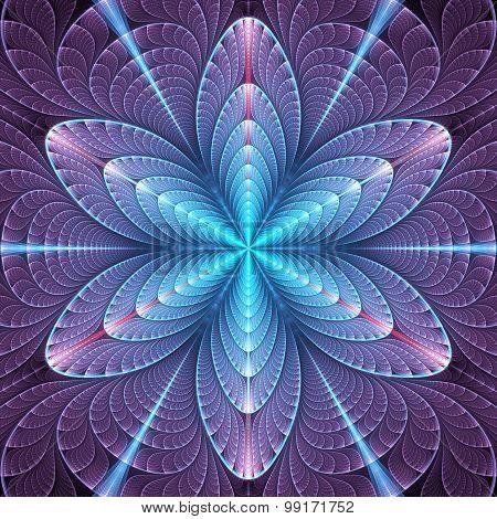 Cyan-violet Mosaic Pattern