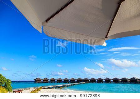 tropical luxury resort with water villas
